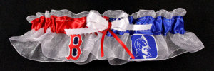 2 Team Applique Custom Bridal Garter