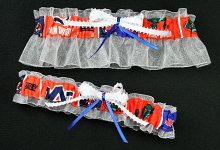 University of Auburn Tigers and University of Florida Gators House Divided Wedding Garter Set