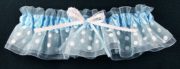 Blue Dot Bridal Garter