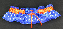 Royal Blue and Orange Dot Bridal Garter