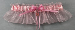 "The ""Tracy"" Breast Cancer Bridal Wedding Garter"