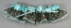 Brown and Teal Bridal Garter