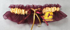 Central Michigan University Chippewas Keepsake Bridal Wedding Garter