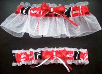 University of Cincinnati Bearcats Wedding Garter Set