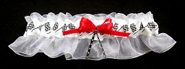 NASCAR Checkered Flags Bridal Garter