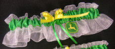 John Deere Applique Bridal Garter