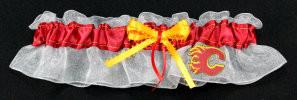 Calgary Flames Hockey Bridal Garter
