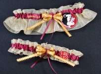 Florida State University Seminoles Applique Garter Set