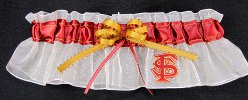 Florida State University FSU Applique Keepsake Bridal Garter
