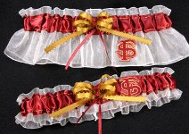 Florida State University FSU Applique Wedding  Garter Set