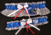New York Giants Garter Set-New York, Giants, Eli Manning, pro sports, sport, NFL, national football league, professional, madden, football, Wedding, garter, garters, garter belt, reception, sew unique garters, prom, special garters, novelty garters, bride, bridal