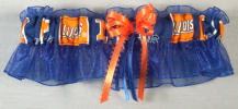Universiy of Illinois Illini Blue Keepsake Bridal Wedding Garter