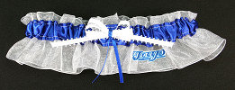 Toronto Blue Jays Baseball Bridal Garter-Toronto Blue Jays, pro sports, baseball, major league baseball, professional, sport, home run, mlb, Wedding, garter, garters, garter belt, reception, sew unique garters, prom, special garters, novelty garters, bride, bridal
