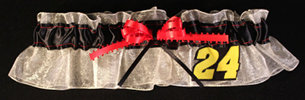 Jeff Gordon Bridal Garter-jeff gordon, nascar, Wedding, garter, garters, garter belt, reception, sew unique garters, prom, special garters, novelty garters, bride, bridal