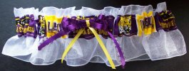 Louisiana State University LSU Tigers Bridal KeepsakeGarter