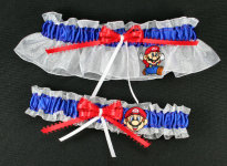 Mario Nintendo Wedding Garter Set