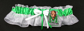 Marshall University Thundering Herd Bridal Keepsake Wedding Garter