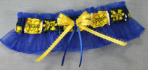 Michigan Blue Bridal Garter