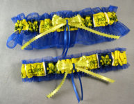 Michigan Blue Garter Set