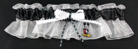 Mickey Mouse Applique Bridal Garter