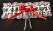 NASCAR Racing Flags Bridal Garter