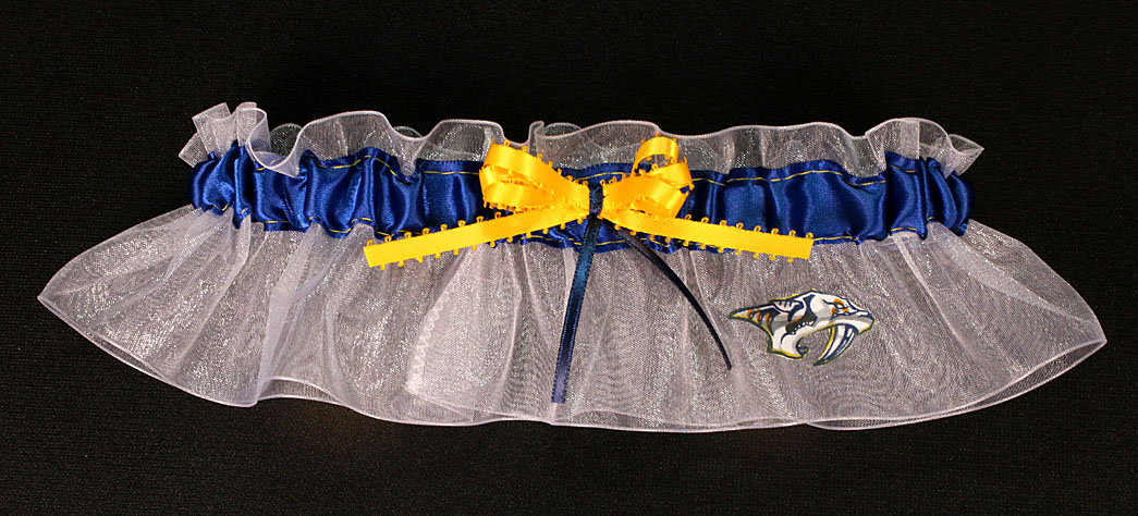 Nashville Predators Hockey Bridal Garter