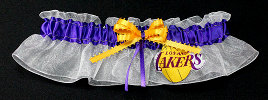 Los Angeles Lakers Bridal Garter