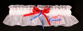 LA Clippers Basketball Bridal Garter