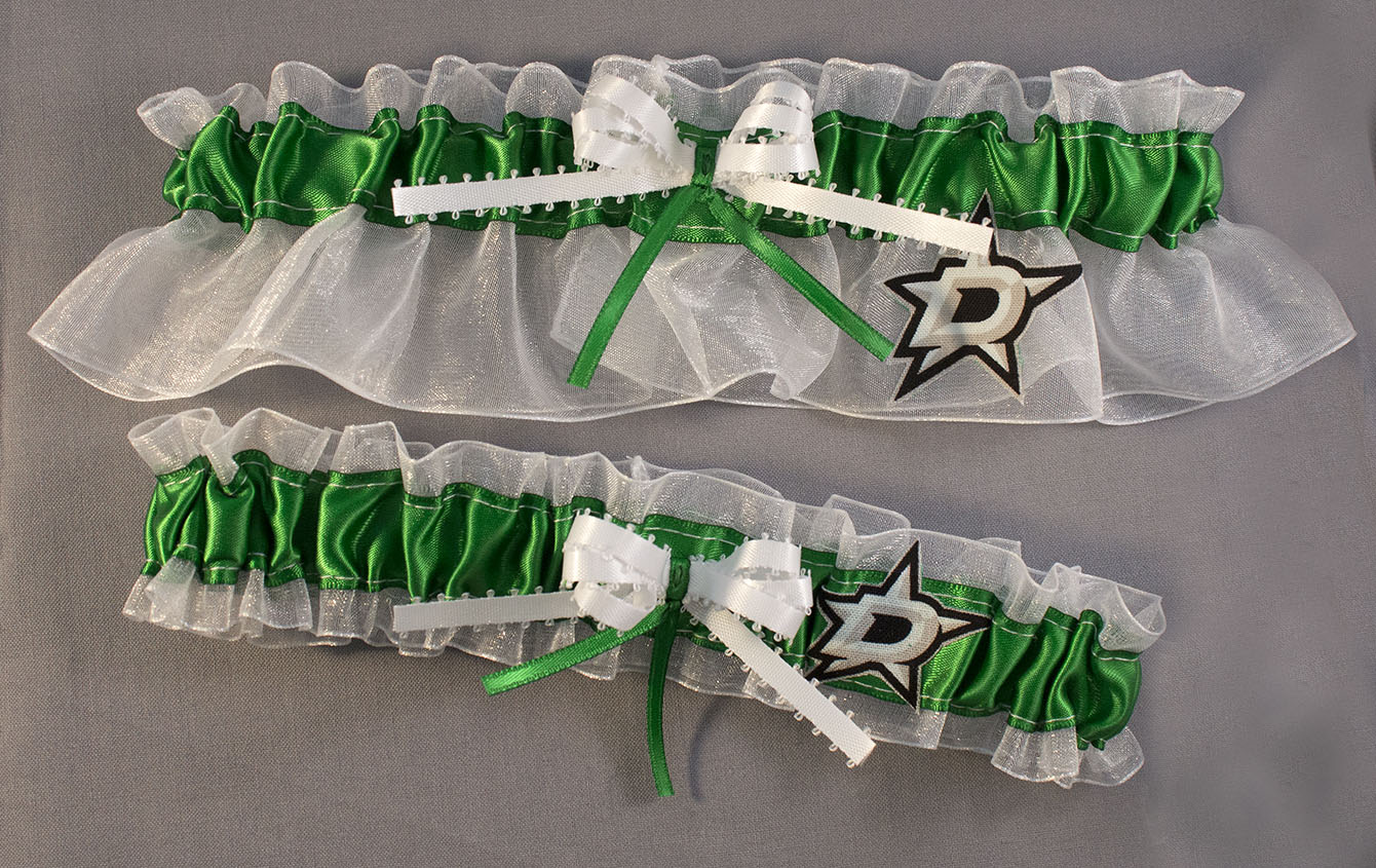 Dallas Stars Hockey Wedding Garter Set
