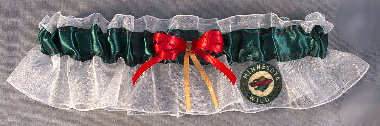 Minnesota Wild Hockey Bridal Garter