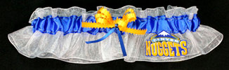 Denver Nuggets Basketball Bridal Garter