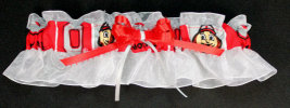 Ohio State Fabric Bridal Garter