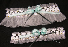 Penguin Wedding Garter Set