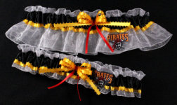 Pittsburgh Pirates Baseball Garter Set-Pittsburgh Pirates, pro sports, baseball, major league baseball, professional, sport, home run, mlb, Wedding, garter, garters, garter belt, reception, sew unique garters, prom, special garters, novelty garters, bride, bridal