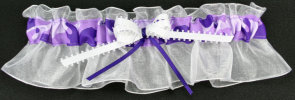 Purple Camouflage Bridal Garter