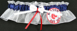 Boston Red Sox Bridal Garter-Boston, Red Sox, pro sports, baseball, major league baseball, professional, sport, home run, mlb, Wedding, garter, garters, garter belt, reception, sew unique garters, prom, special garters, novelty garters, bride, bridal