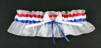 Red White and Blue Bridal Garter