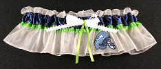 Seattle Seahawks Football Bridal Garter-Seattle, Seahawks, pro sports, sport, NFL, national football league, professional, madden, football, Wedding, garter, garters, garter belt, reception, sew unique garters, prom, special garters, novelty garters, bride, bridal