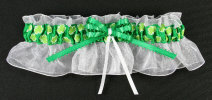 Green Irish Bridal Wedding Garter