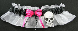 Skull Gothic Wedding Keepsake Bridal Garter