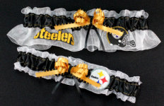 Pittsburgh Steelers Football Garter Set-Pittsburgh, Steelers, ben roethlisberger, big ben, pro sports, sport, NFL, national football league, professional, madden, football, Wedding, garter, garters, garter belt, reception, sew unique garters, prom, special garters, novelty garters, bride, bridal