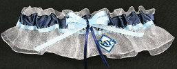 Tampa Bay Rays Baseball Bridal Garter-Tampa Bay, Rays, pro sports, baseball, major league baseball, professional, sport, home run, mlb, Wedding, garter, garters, garter belt, reception, sew unique garters, prom, special garters, novelty garters, bride, bridal