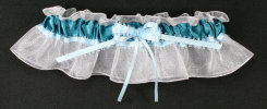 Teal and Light Blue Bridal Garter