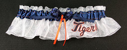 Detroit Tigers Baseball Bridal Garter-Detroit Tigers, pro sports, baseball, major league baseball, professional, sport, home run, mlb, Wedding, garter, garters, garter belt, reception, sew unique garters, prom, special garters, novelty garters, bride, bridal
