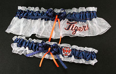 Detroit Tigers Baseball Garter Set-Detroit Tigers, pro sports, baseball, major league baseball, professional, sport, home run, mlb, Wedding, garter, garters, garter belt, reception, sew unique garters, prom, special garters, novelty garters, bride, bridal