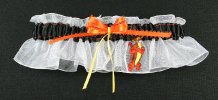 Tigger Bridal Garter-Tigger, Winnie the Pooh, Disney, Disney World, Walt Disney, Florida, Disney land, California, Mouse, Wedding, garter, garters, garter belt, reception, sew unique garters, prom, special garters, novelty garters, bride, bridal