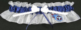 Tennessee Titans Bridal Garter-Tennessee, Titans, pro sports, sport, NFL, national football league, professional, madden, football, Wedding, garter, garters, garter belt, reception, sew unique garters, prom, special garters, novelty garters, bride, bridal