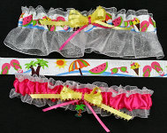 Tropical Garter Set