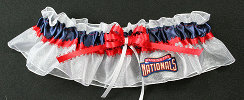 Washington Nationals Baseball Bridal Garter-Washington, Nationals, pro sports, baseball, major league baseball, professional, sport, home run, mlb, Wedding, garter, garters, garter belt, reception, sew unique garters, prom, special garters, novelty garters, bride, bridal